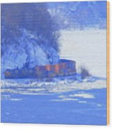 Csx Train Wood Print
