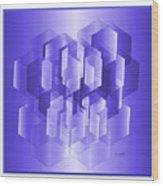 Cubed Wood Print