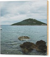 Cunski Beach And Coastline, Losinj Island, Croatia Wood Print