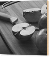 Cutting Apples Wood Print