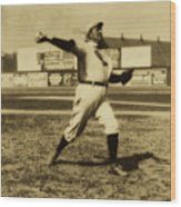 Cy Young With The Boston Americans 1908 Wood Print