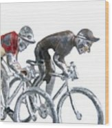 Cyclists Wood Print