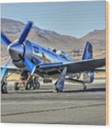 Czech Mate Engine Start Sunday Afternoon Gold Unlimited Reno Air Races Wood Print