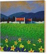 Daffodil Meadow Wood Print