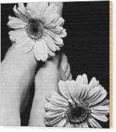 Daisy Toes Wood Print