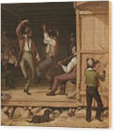 Dance Of The Haymakers Wood Print