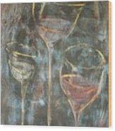 Dancing Glasses Wood Print