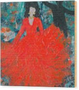 Dancing Joyfully With Or Without Ned Wood Print by Annette McElhiney