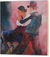 Dancing Tango Wood Print