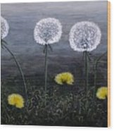 Dandelion Family Wood Print
