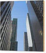 Dark Manhattan Skyscrapers Wood Print