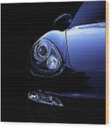 Dark Porsche Wood Print