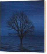 Dark Tree Wood Print