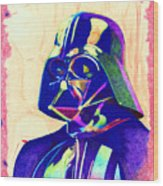 Darth Vader Wood Print by Kyle Willis