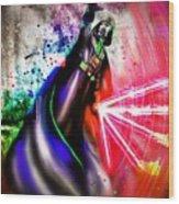 Darth Vader Sw Wood Print