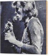 David Bowie By Mary Bassett Wood Print