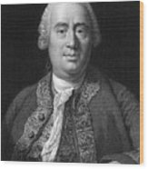 David Hume, Scottish Philosopher Wood Print by Middle Temple Library