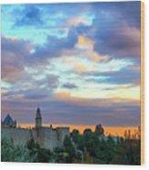 David Tower At Sunset  Wood Print