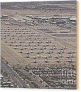 Davis-monthan Air Force Base Airplane Wood Print