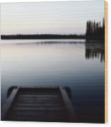 Dawn At Lynx Lake In Northern Saskatchewan Wood Print