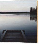 Dawn At Lynx Lake In Northern Saskatchewan Wood Print
