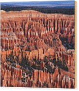 Dawn In Bryce Canyon Wood Print