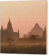 Dawn In Burma Wood Print