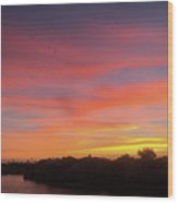 Colorful Dawn Of A New Day  Wood Print
