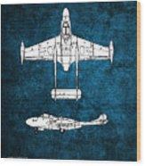 de Havilland Venom Wood Print