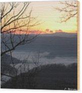 December Sunrise Wood Print