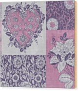 Deco Heart Pink Wood Print