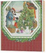 Decorating The Tree Wood Print