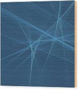 Deep Sea Computer Graphic Line Pattern Wood Print