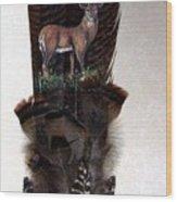 Deer Feather Wood Print