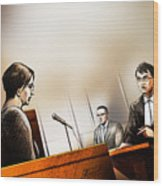 Defence Attorney Dirk Derstine At The Tori Stafford Murder Trial In London Wood Print