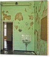 Derelict Hospital Room Wood Print