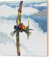Desert Spitfire Wood Print