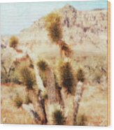 Desert Yucca Wood Print