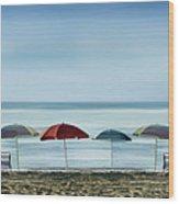 Deserted Beach. Wood Print