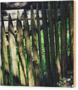 Detail Of An Old Wooden Fence Wood Print