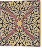 Detail Of Ceiling Arabesques From The Mosque Of El-bordeyny Wood Print