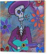 Dia De Los Muertos Mariachi Wood Print