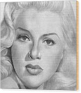 Diana Dors Wood Print