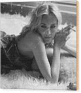 Diane Kruger Wood Print