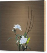 Digital Flower Arrangement Wood Print