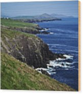 Dingle Coastline Near Fahan Ireland Wood Print