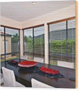 Dining Room Wood Print