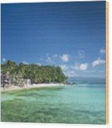 Diniwid Beach In Tropical Paradise Boracay Philippines Wood Print