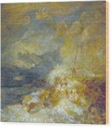 Disaster At Sea Wood Print