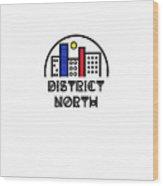 District North Wood Print